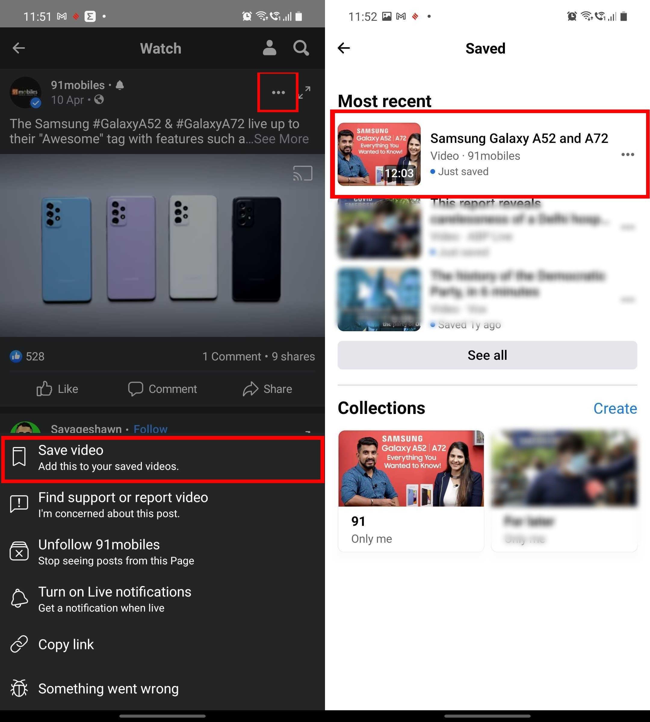 फेसबुक वीडियो को कैसे बचाएं