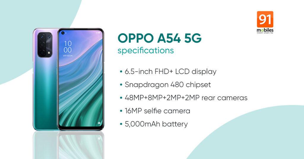 OPPO A54 5G Specs