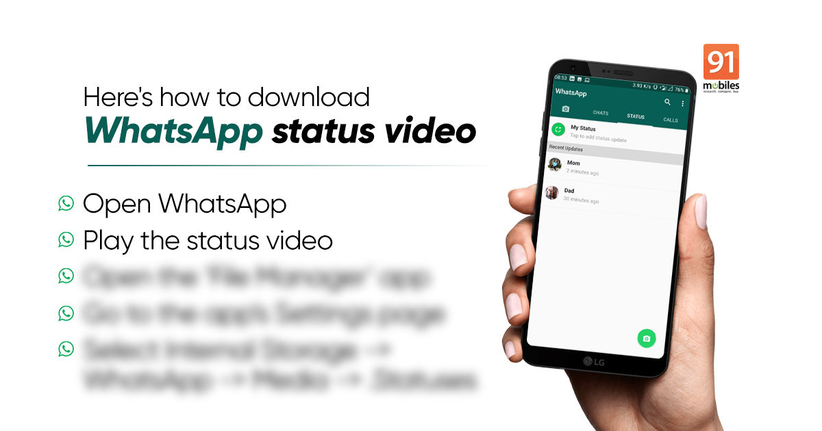 WhatsApp standing video obtain: Learn how to obtain WhatsApp standing movies and picture on Android and iPhone