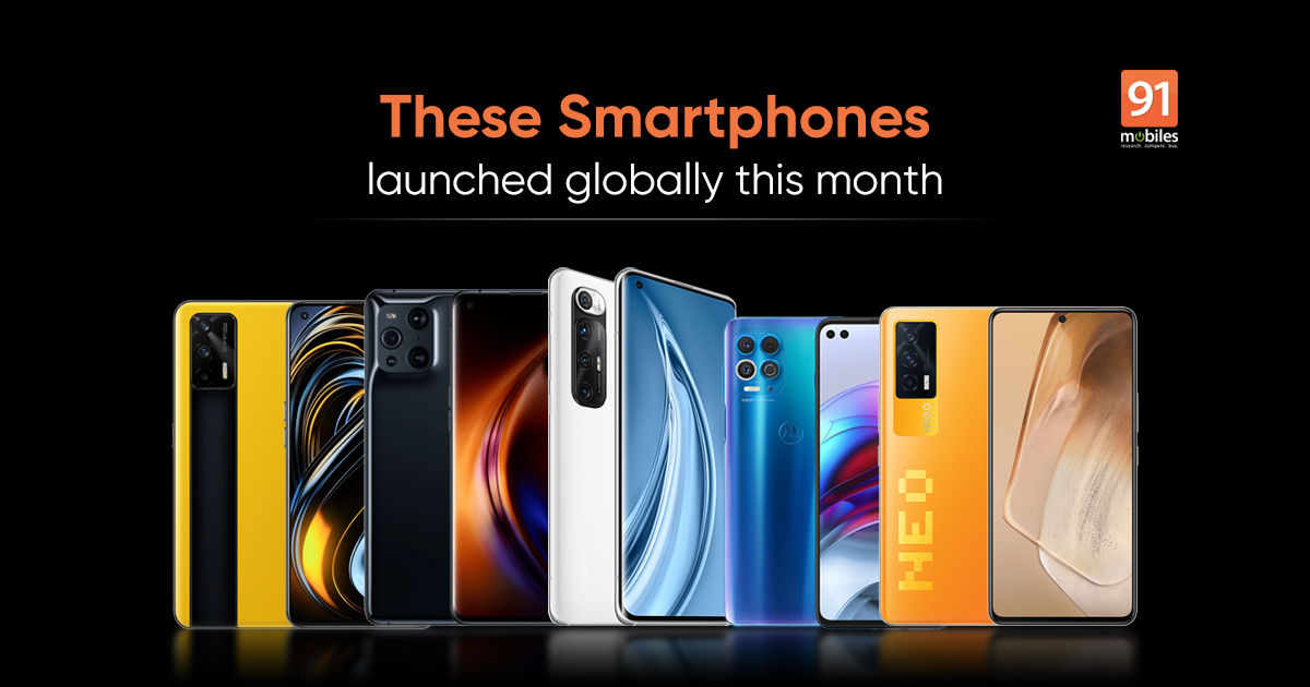 Mobile phones launched globally in March 2021: Realme GT, POCO X3 Pro, Mi  10S, and more | 91mobiles.com