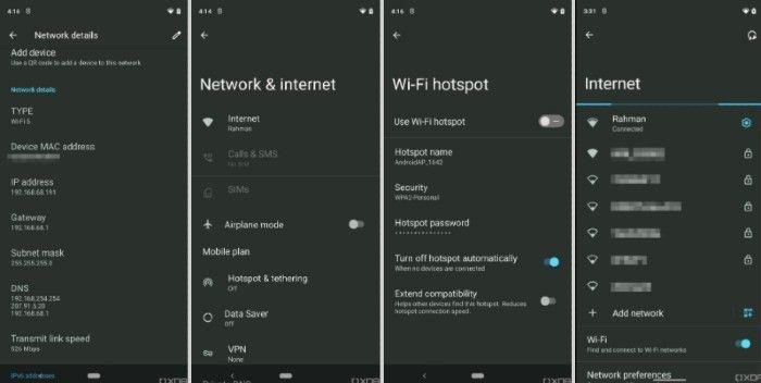 Android 12 नेटवर्क सेटिंग्स