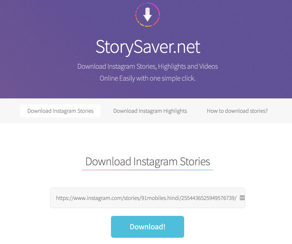 Instagram story download