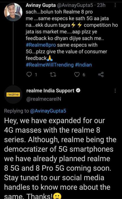 Realme 8 5G, Realme 8 Pro 5G
