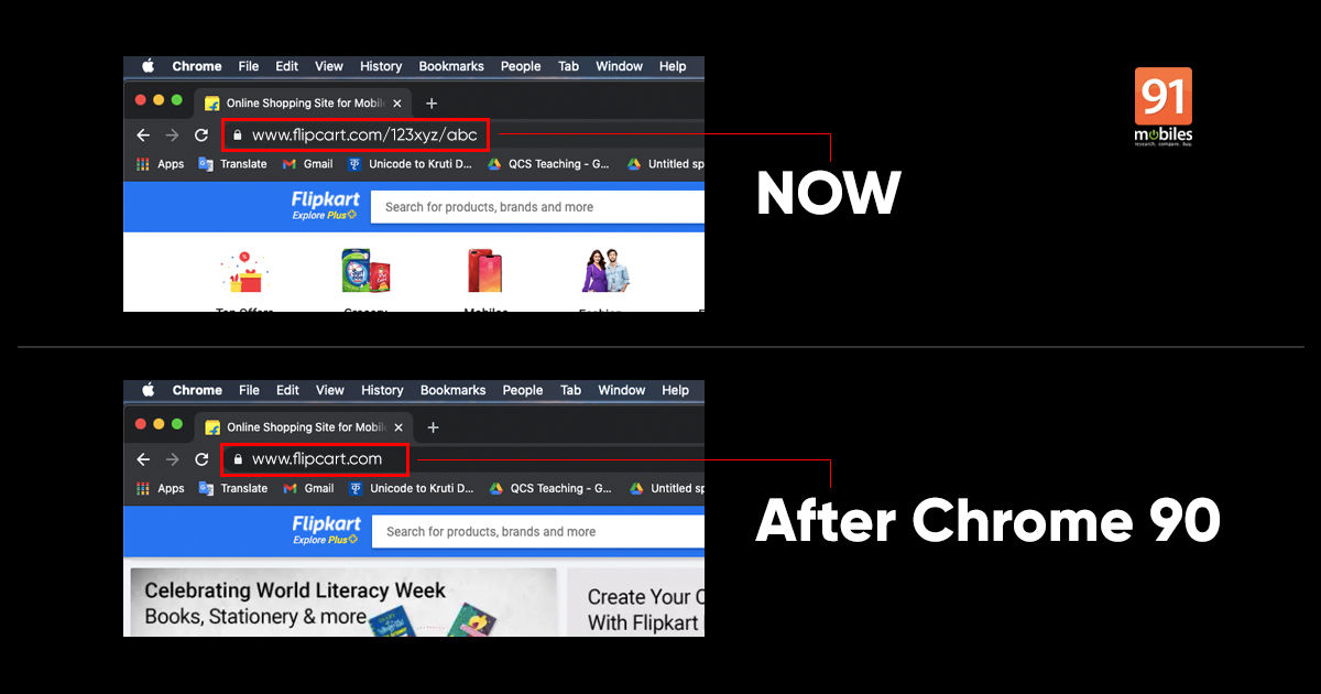 Google Chrome 90 URL फ़िशिंग सुरक्षा