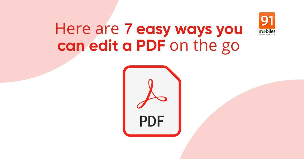 How one can edit PDF file on cell phone and laptop computer free of charge