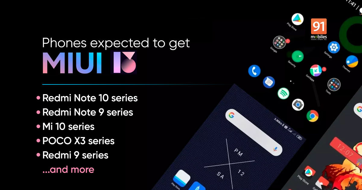 MIUI 13 replace options, system listing, launch date in India, and every part else we all know up to now