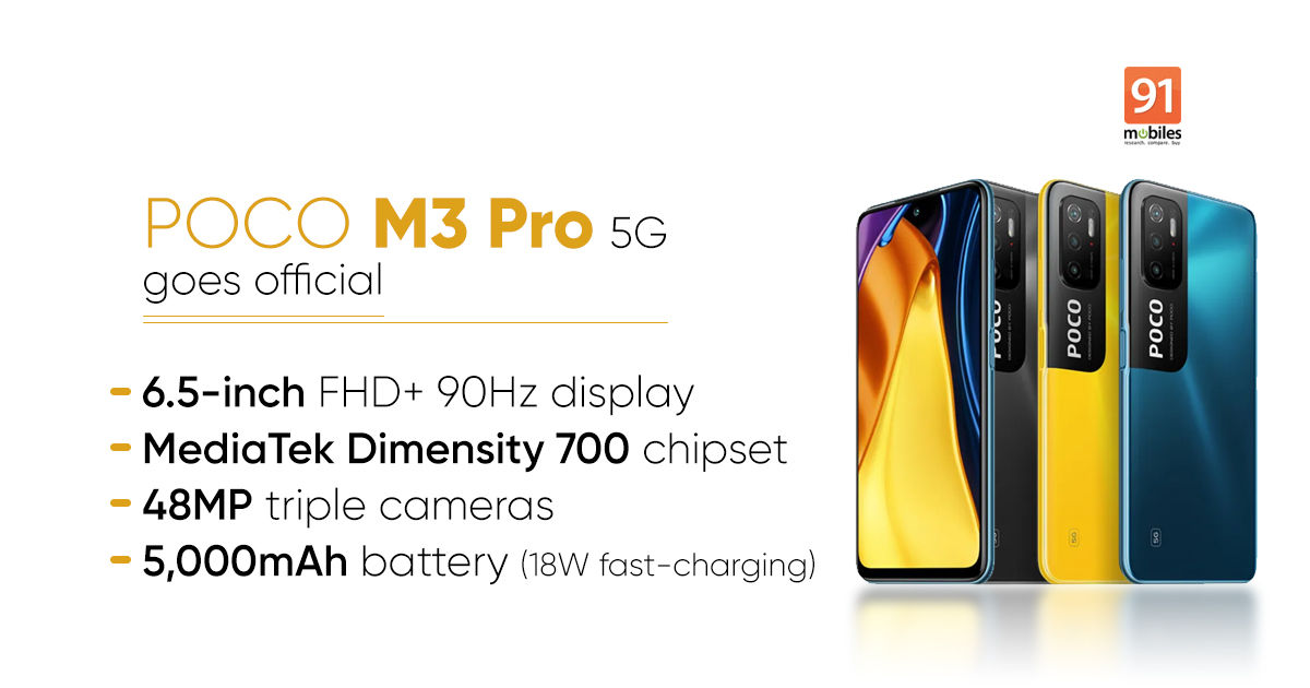 POCO M3 Professional 5G launched: worth, specs