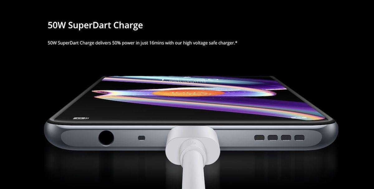 Realme X7 Max 5G charging