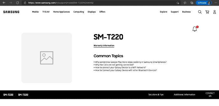 Samsung SM-T220