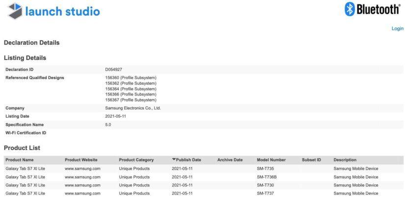 Samsung_Galaxy_Tab_S7_XL_Lite_Bluetooth_SIG_certification