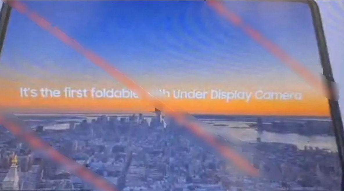 galaxy z fold 3 under display camera