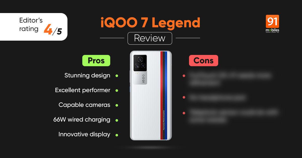 iQOO 7 Legend evaluate: an entire bundle