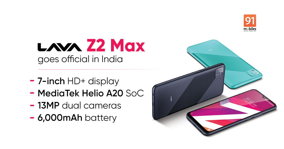 Lava Z2 Max with 7-inch show, 6,000mAh battery launched in India: worth, specs