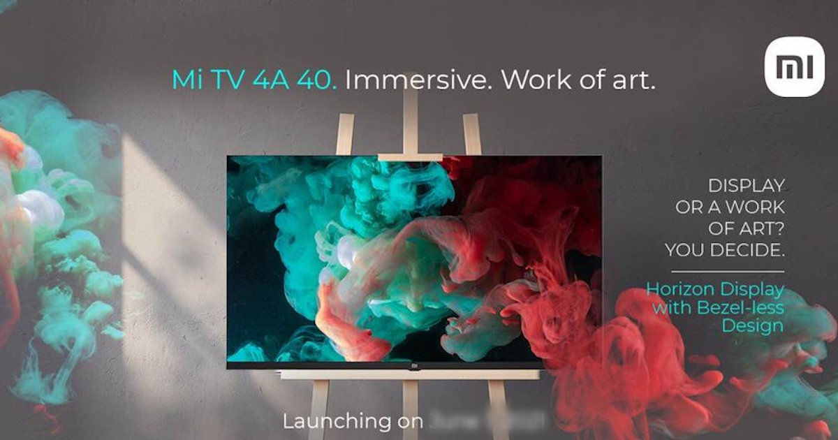 Mi TV 4A 40 Horizon Version launch date in India revealed, bezel-less design teased