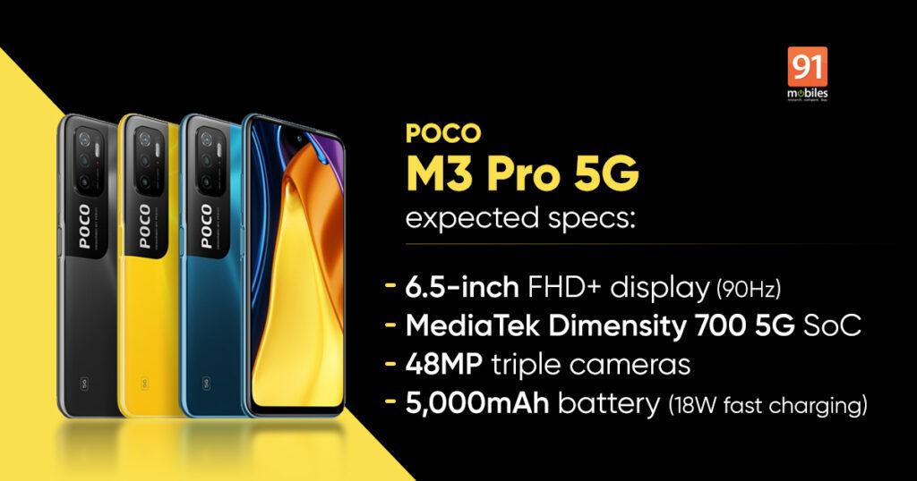 POCO M3 Pro 5G prices leaked