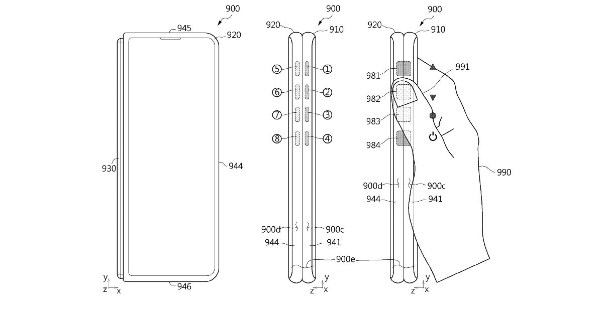 Samsung Galaxy Z Fold 3 might include touch-based facet buttons, new patent suggests