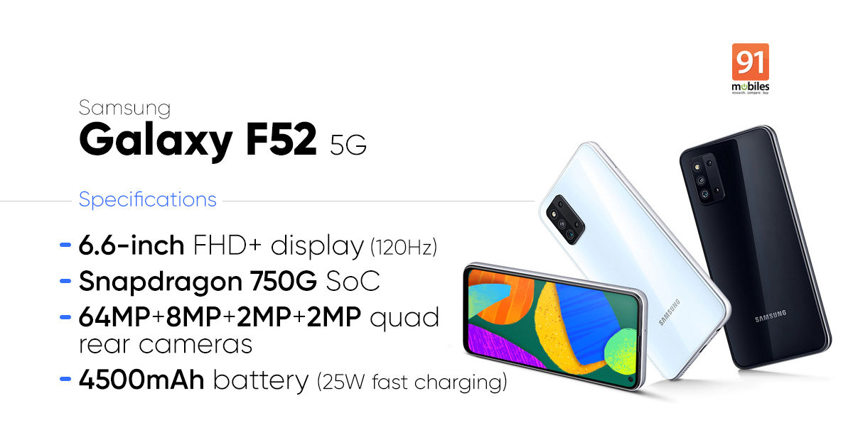Samsung Galaxy F52 5G launched: value, specs