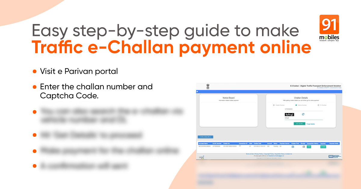 Visitors e challan: The right way to pay challan on-line, verify e-challan standing, and file grievance