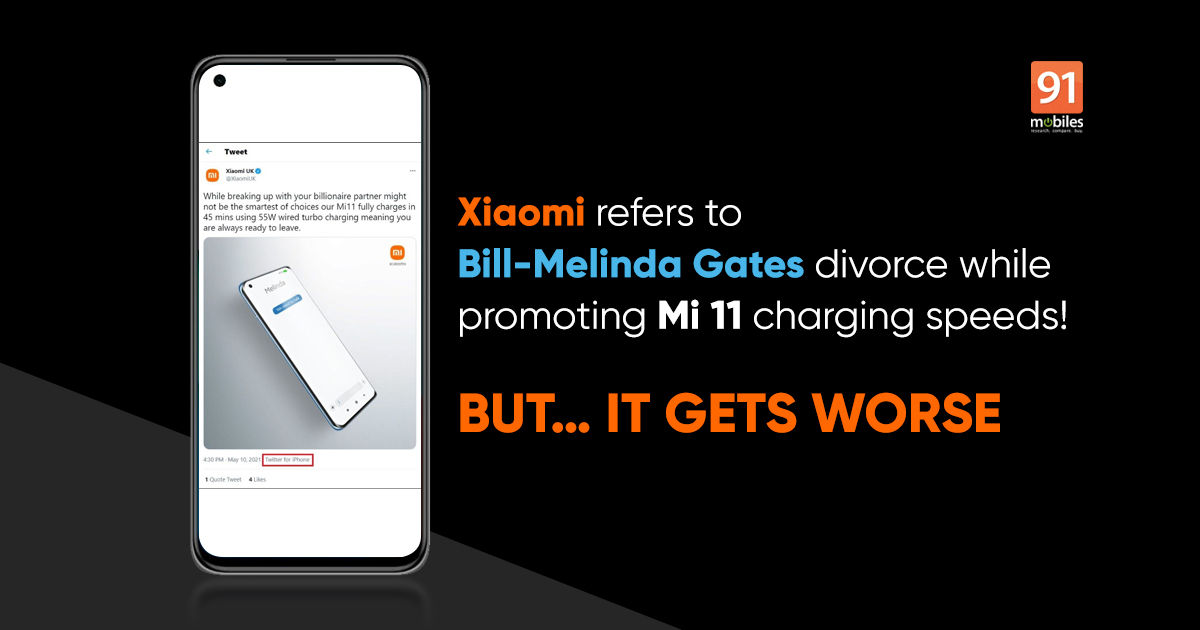 Xiaomi posts awkward tweet on Invoice Gates' divorce, however that is not the worst half