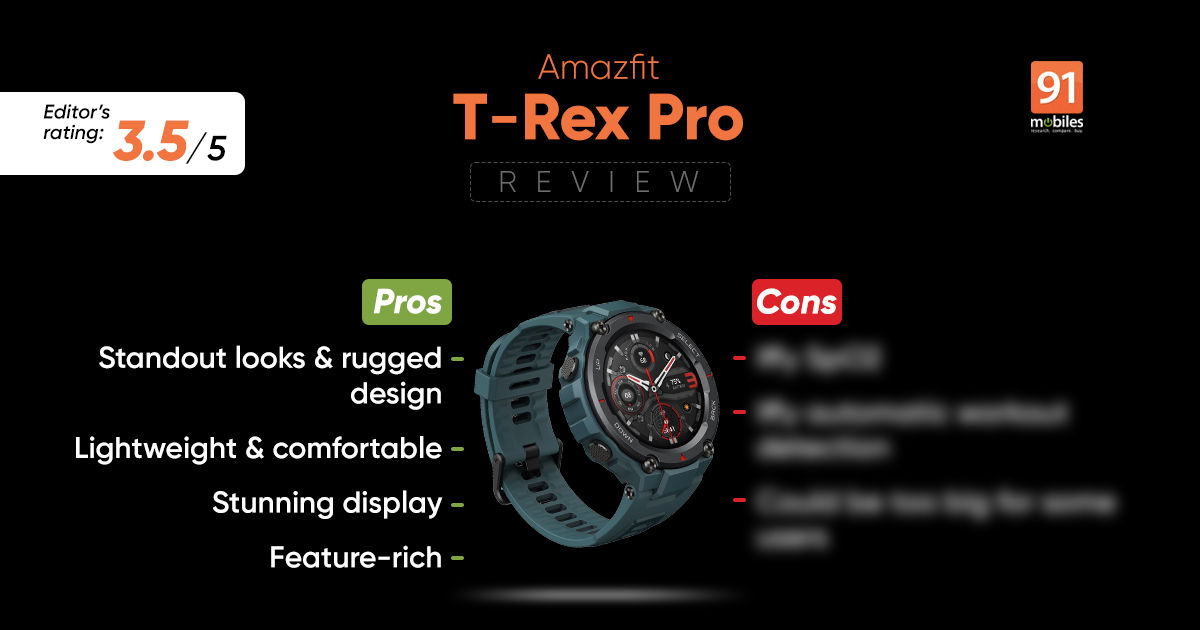 Amazfit T-Rex Professional overview with execs and cons