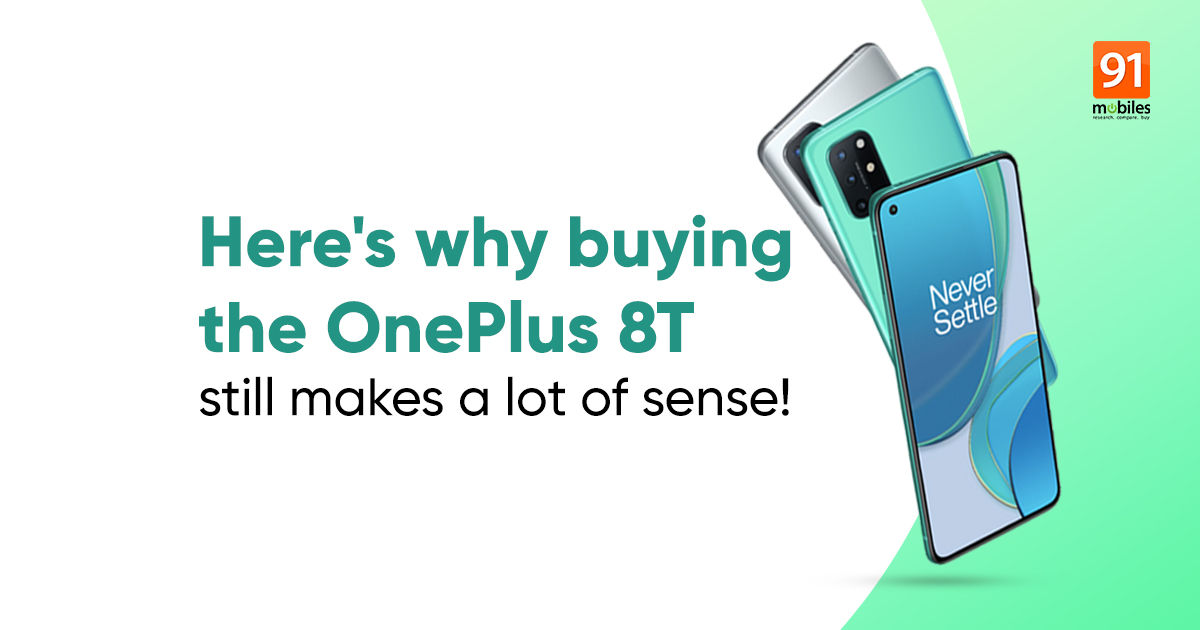 The OnePlus 8T is not simply cheaper, it might truly be higher than the OnePlus 9R