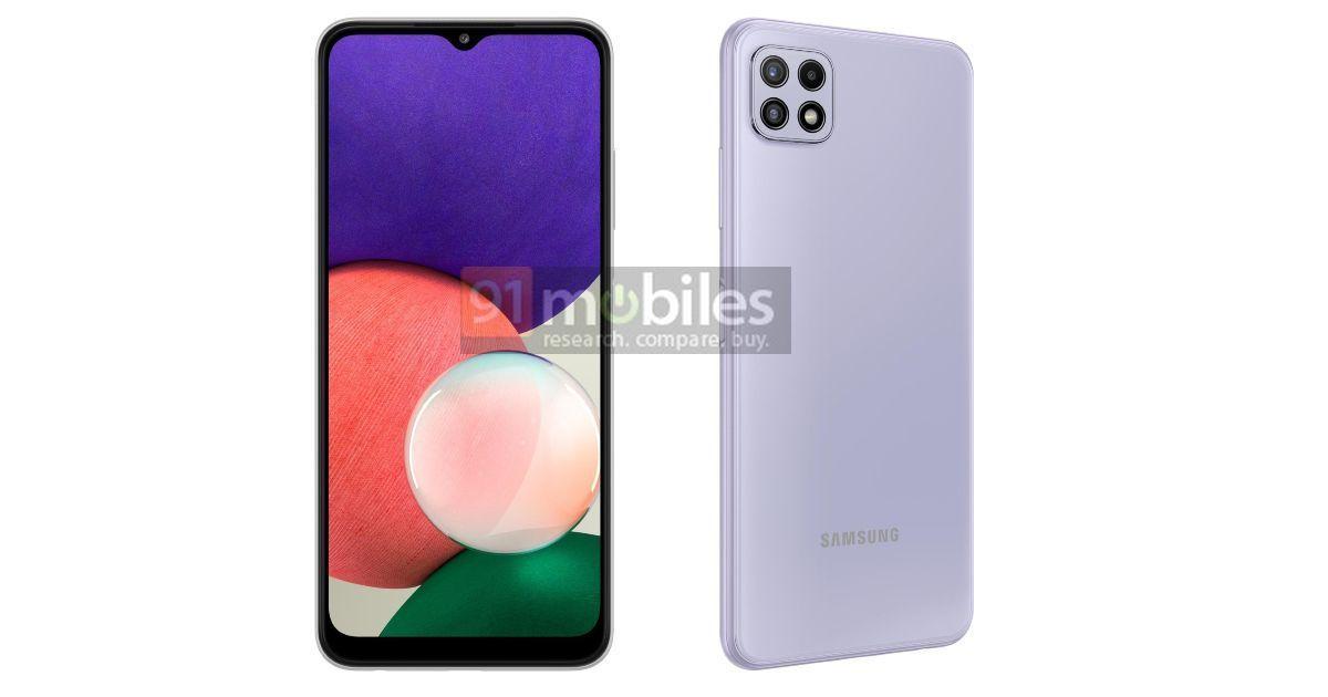 Recent Samsung Galaxy A22 5G renders seem, full specs leaked