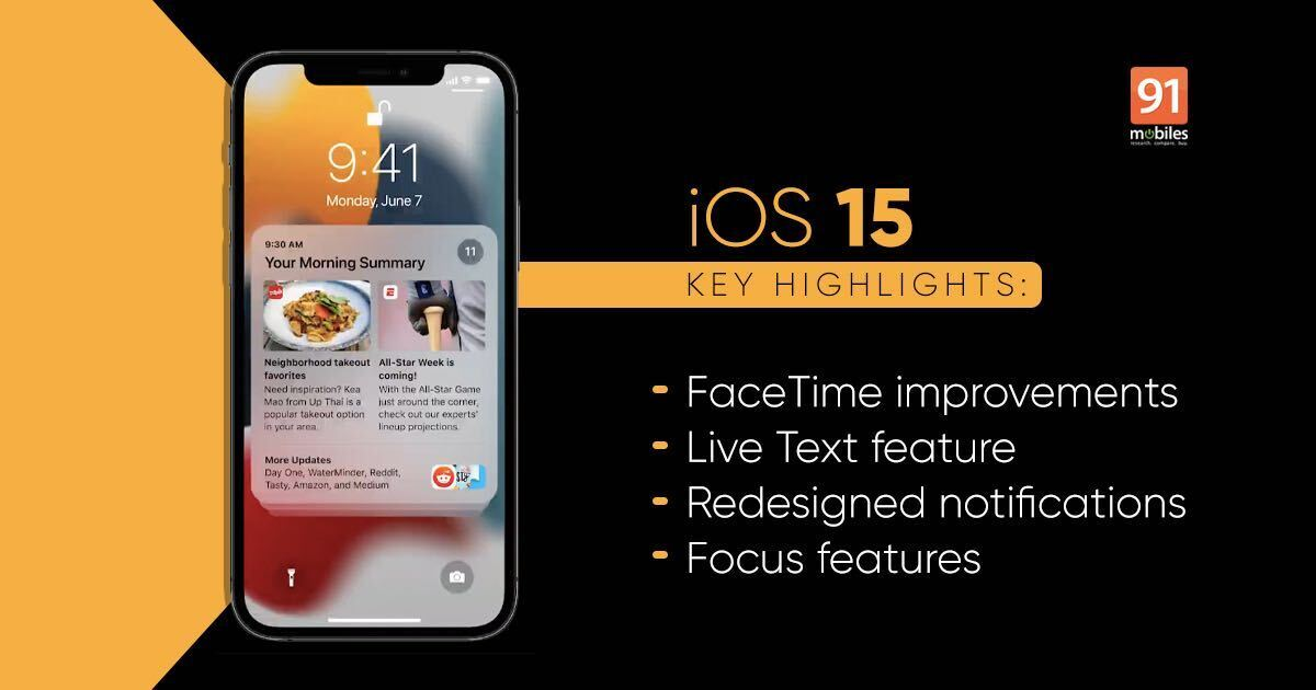 iOS 15 introduced with SharePlay, Focus mode, Reside Textual content, and different enhancements