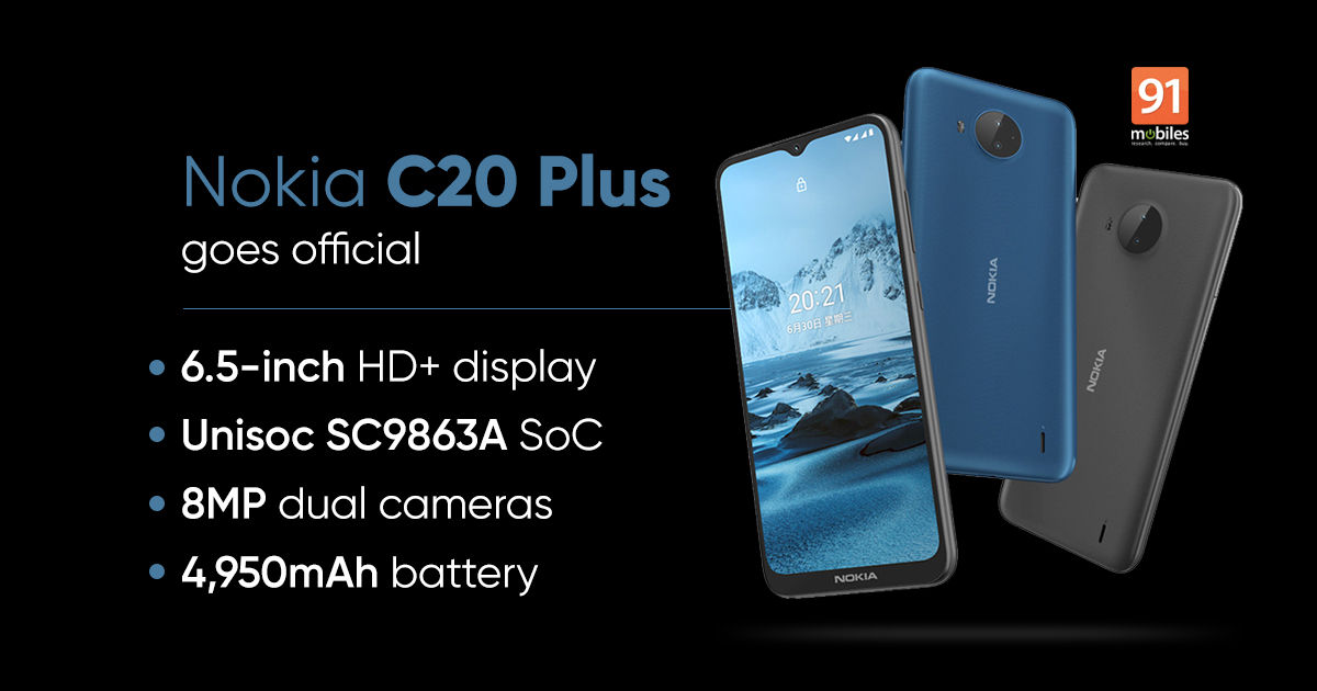 Nokia C20 Plus launched with 6.5-inch show, 4,950mAh battery: value, specs
