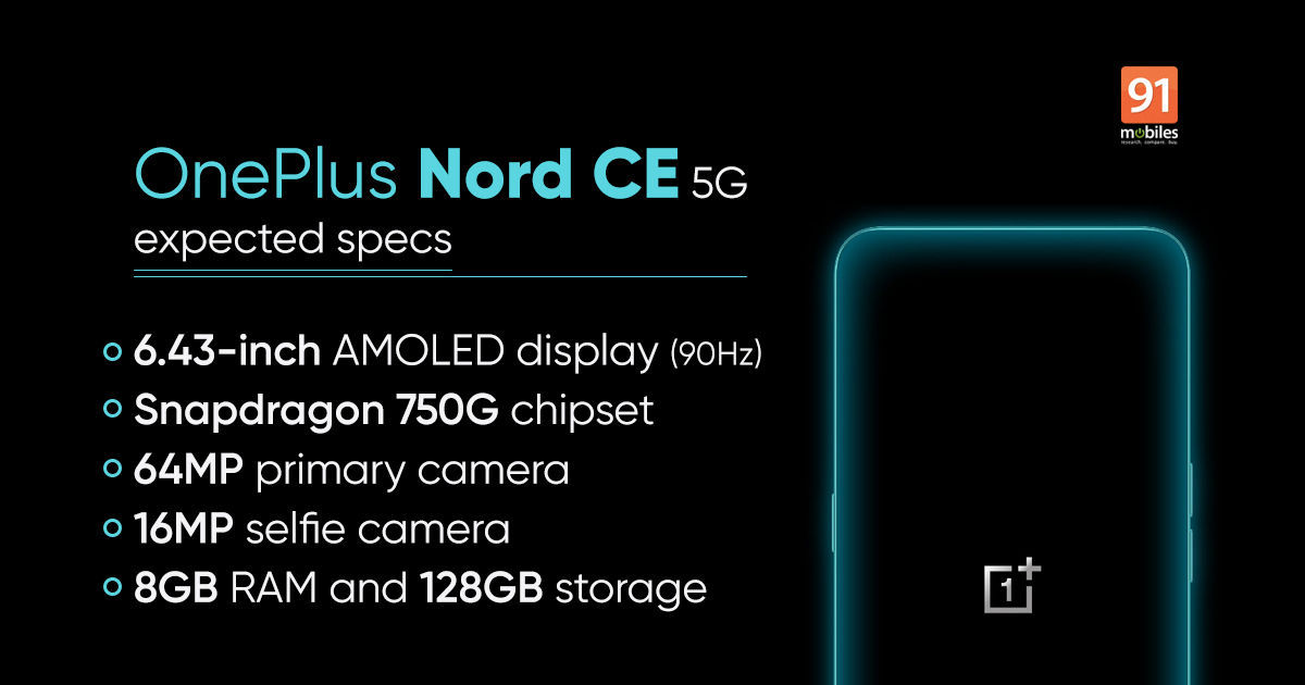 OnePlus Nord CE 5G is slimmer than unique Nord, and comes with a headphone jack