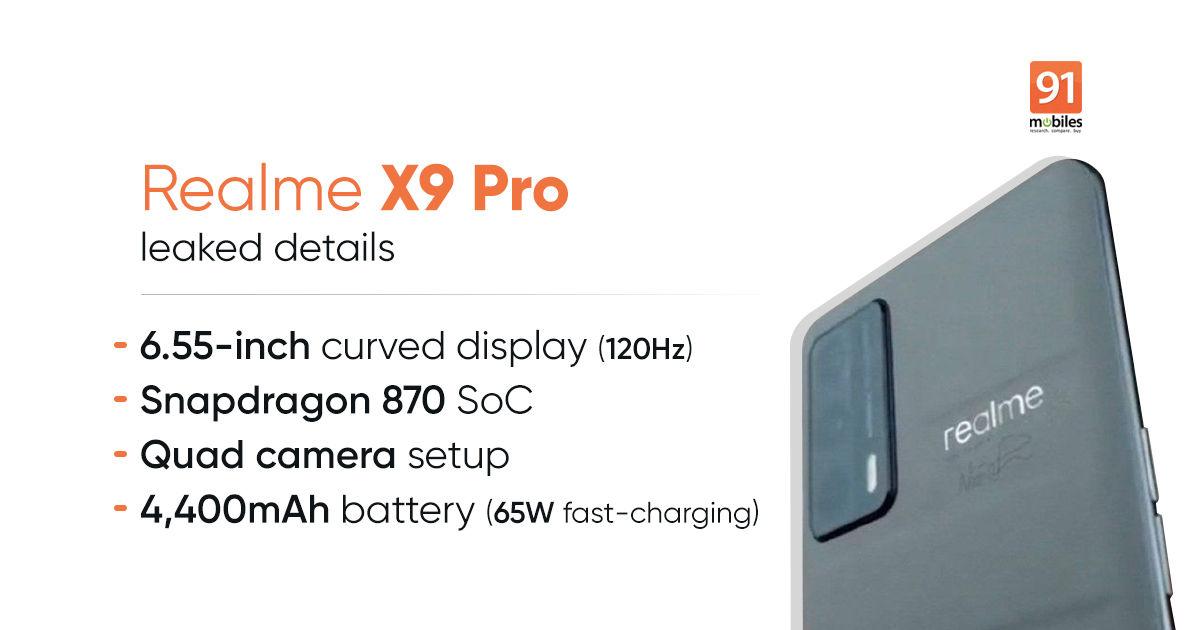 Realme X9, Realme X9 Professional worth, specs leaked