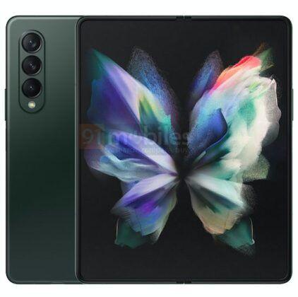 Samsung_Galaxy_Z_Fold3_green_color_render_01