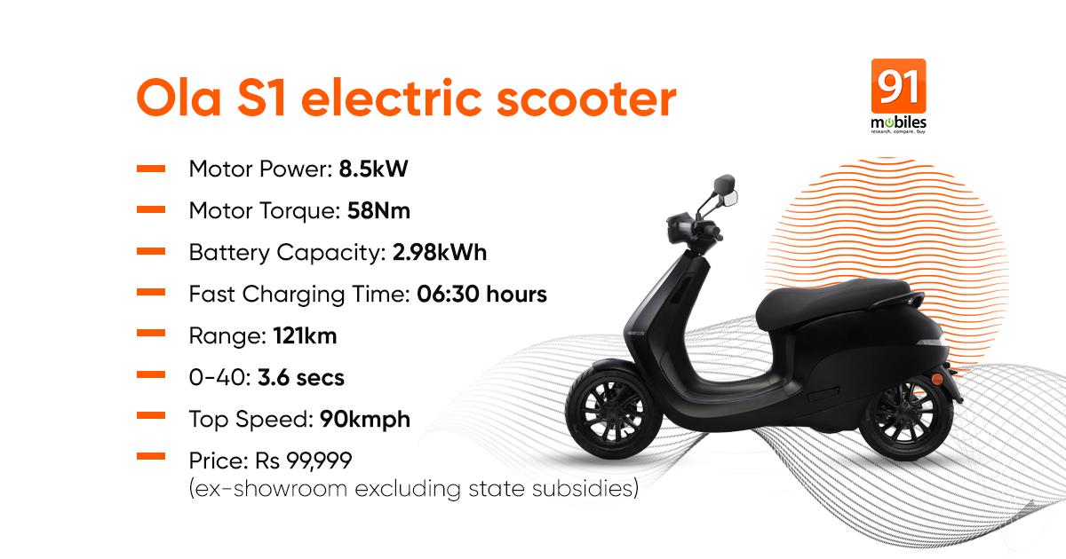 Electric scooter Ola S1