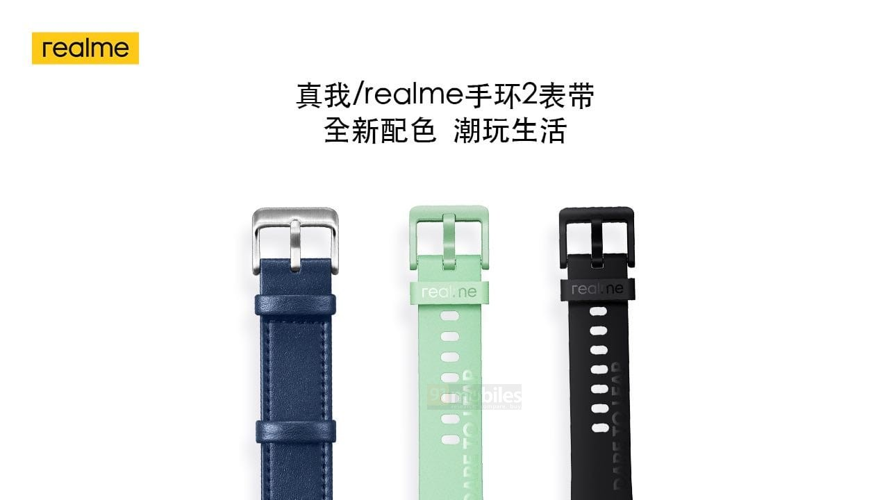Realme Band 2 colour options