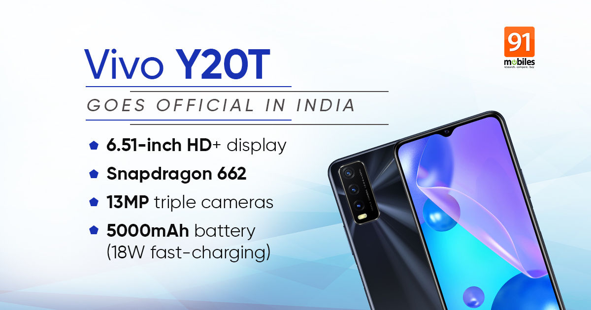 Vivo y20t launched in india