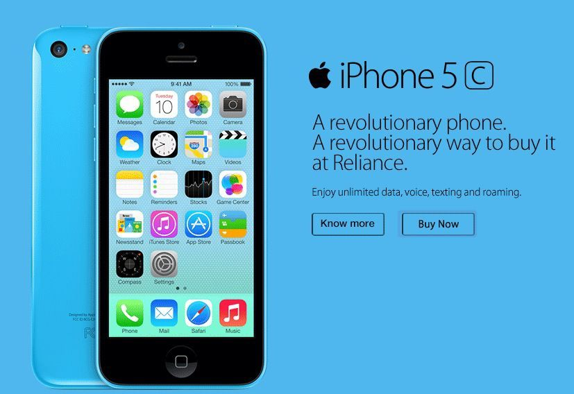 Reliance iPhone 5s and 5c Offer
