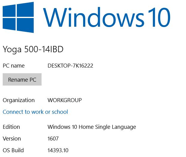 OS Update Windows 10