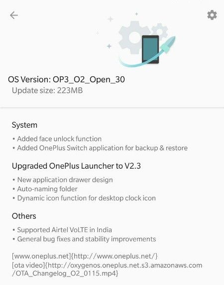 Face Unlock and Support for Airtel VoLTE on OnePlus 3 and 3T