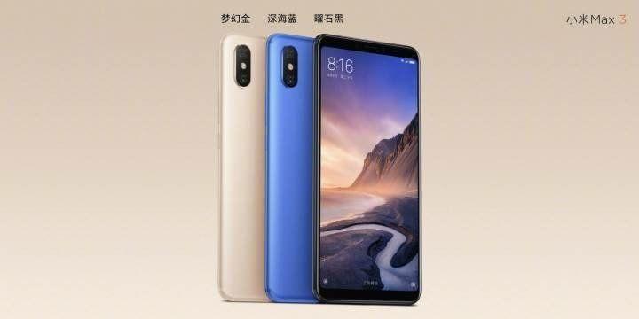 Xiaomi Mi Max 3 Color Variants