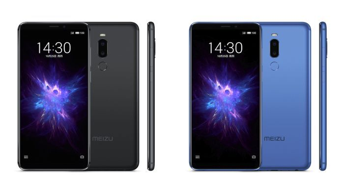 Meizu Note 8 Black and Gray Blue