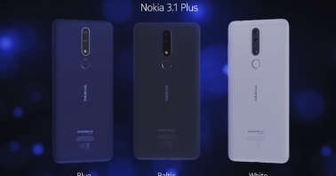 Nokia 3.1 Plus color editions