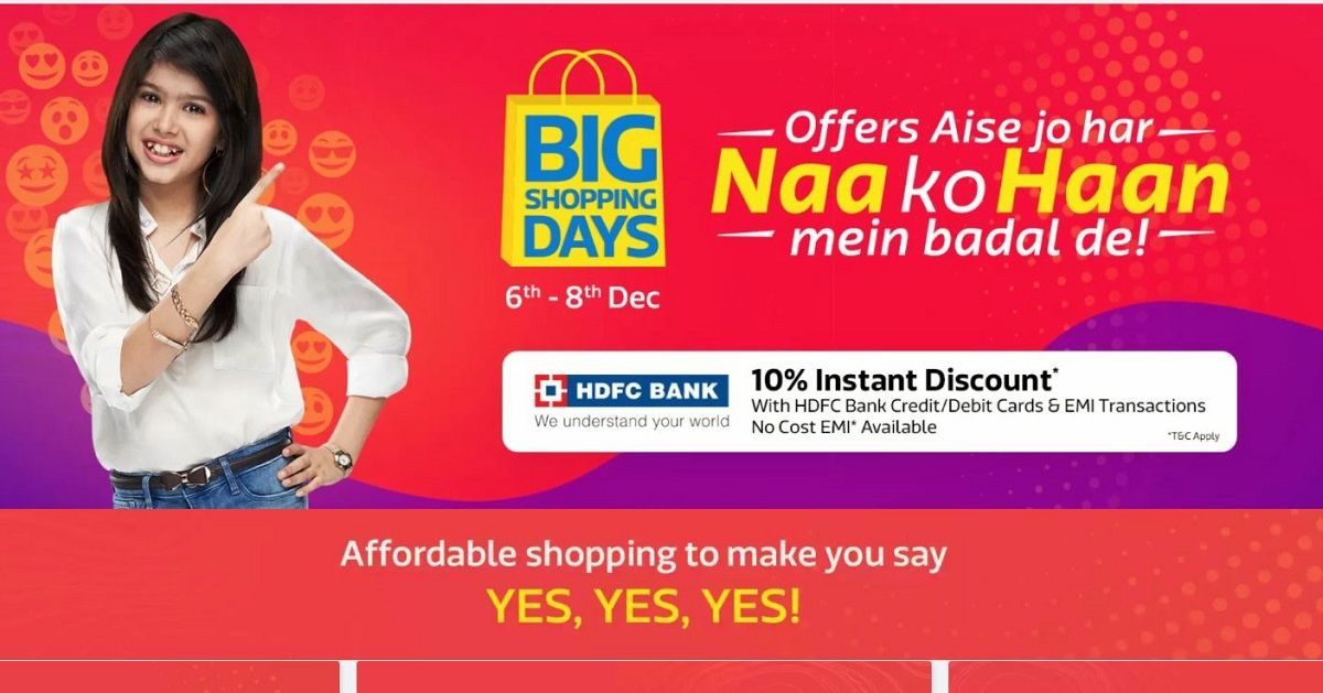 Flipkart Big Shopping Days: Top Deals On Smartphones and Home Appliances