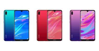 Huawei Enjoy 9 Blue, Red and Purple