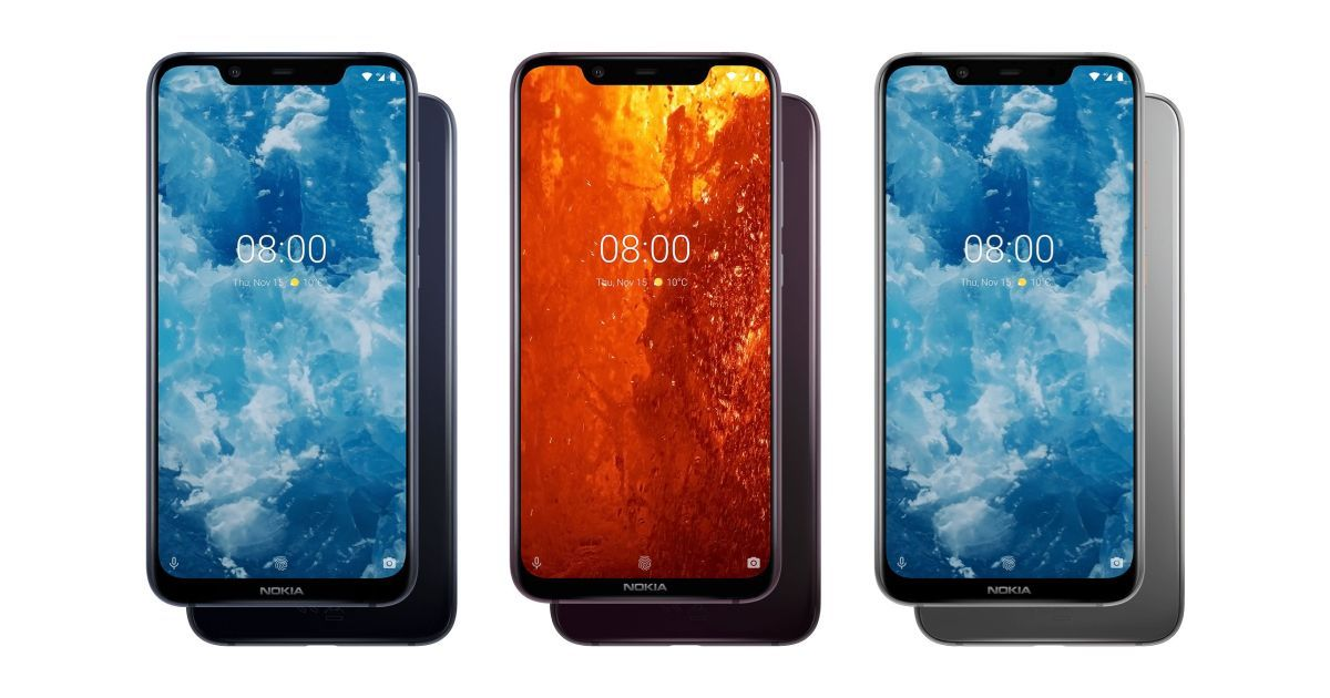 Nokia 8.1 Color Variants