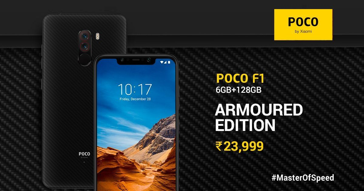 Xiaomi Poco F1 6 GB, 128 GB RAM Armoured Edition