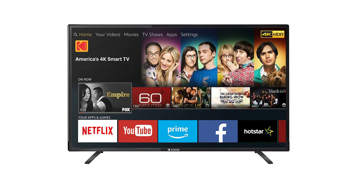 Kodak 43UHDX Smart TV Launched in India for Rs 23,999