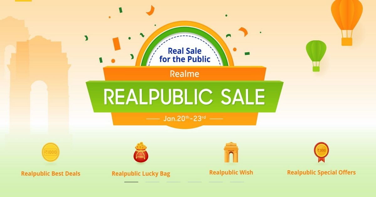 Realme 'Realpublic Sale': discounts on the Realme U1, C1, 2 Pro and more