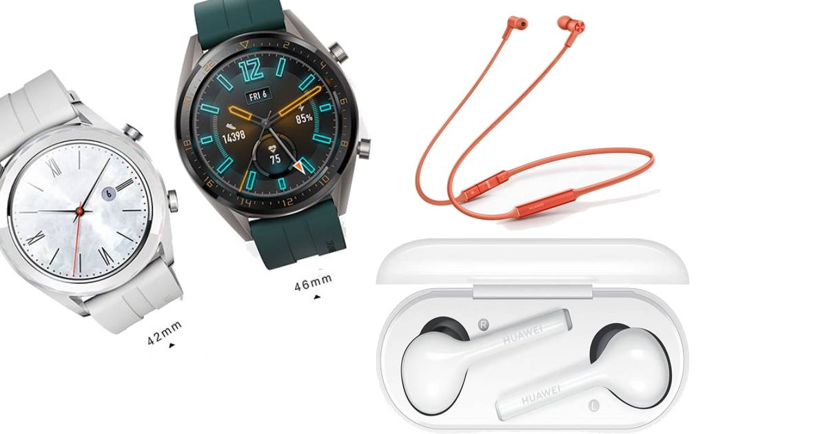 Huawei Watch GT, Huawei FreeLace and FreeBuds Lite Announced: Price, Specifications