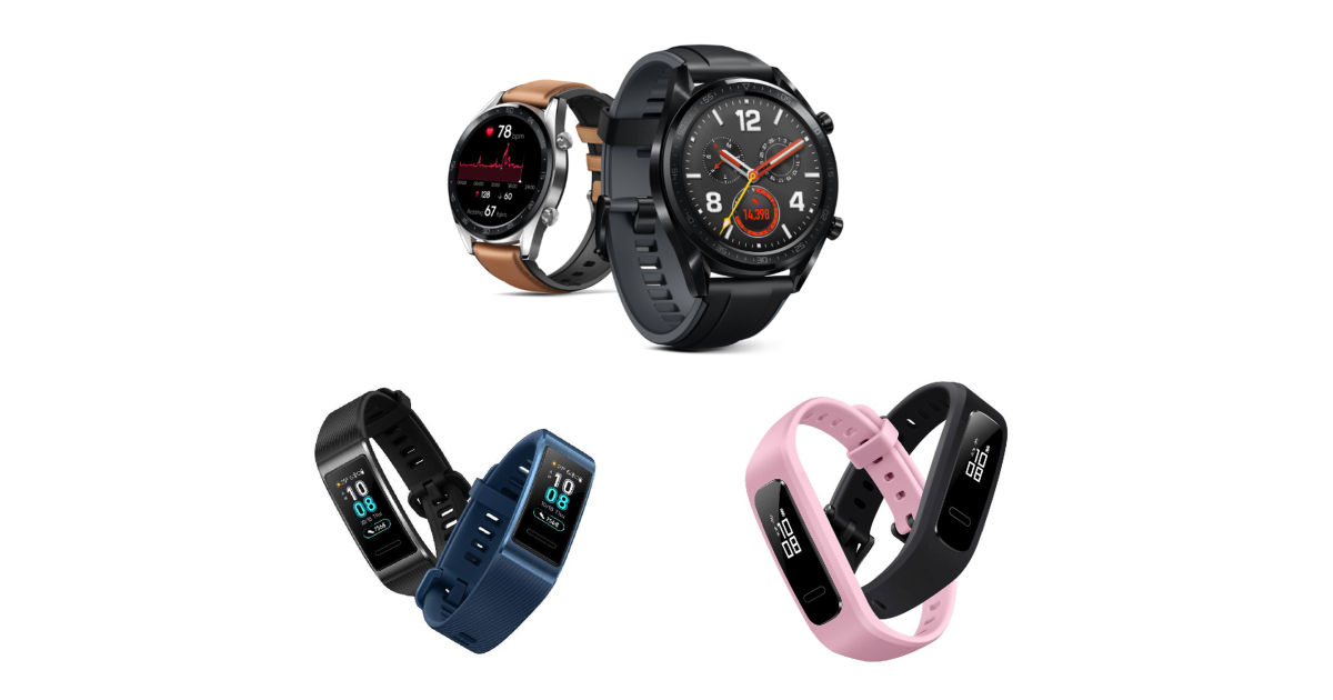 Huawei Watch GT, Band 3 Pro and Band 3e