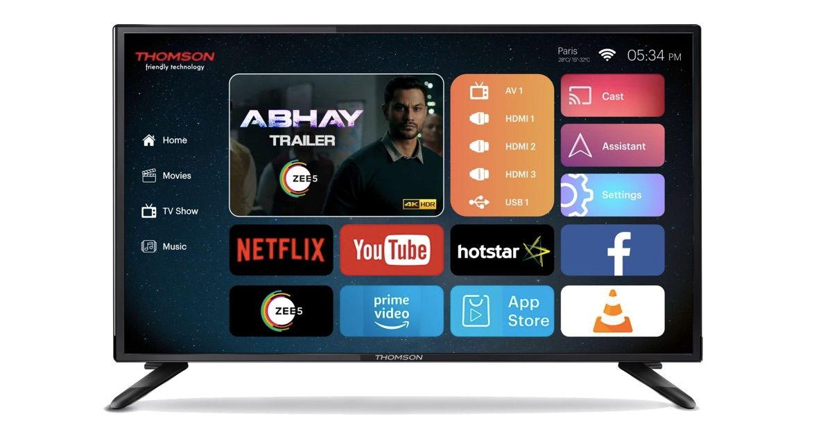 Thomson UD9 40-inch 4K smart TV Launched in India for Rs 20,999