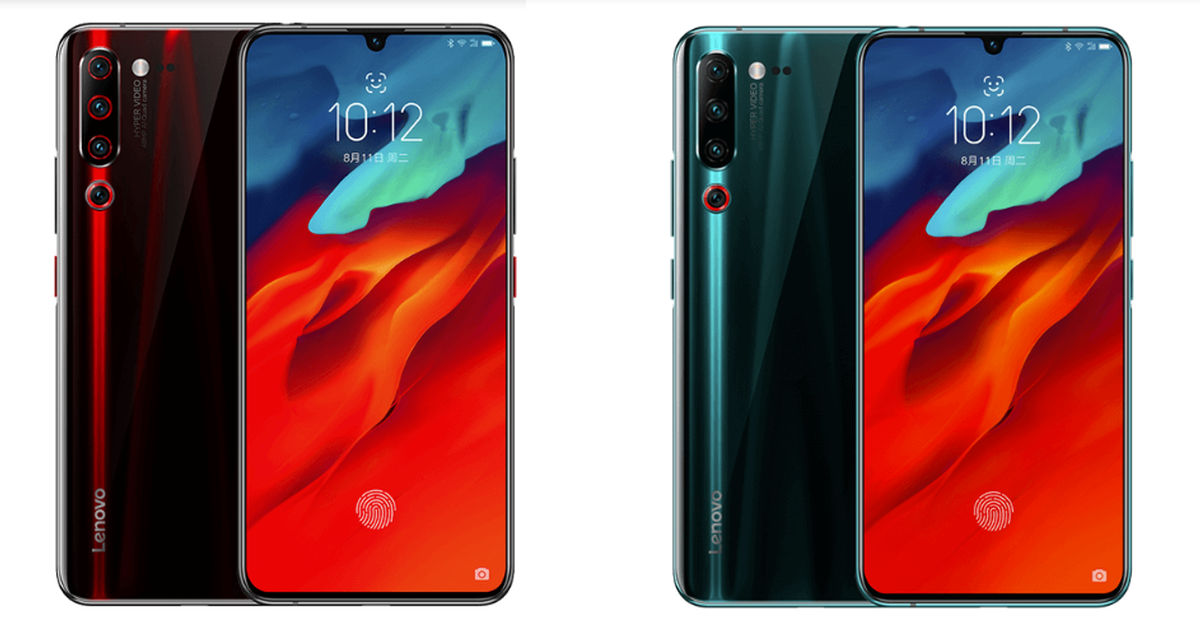 Lenovo Z6 Pro Black and Blue featured